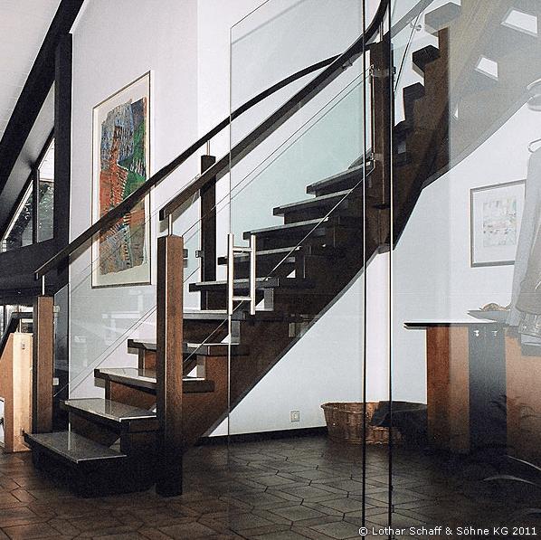 Treppenumbau und Treppenkürzung einer vorhandenen Treppe in einem Einfamilienhaus