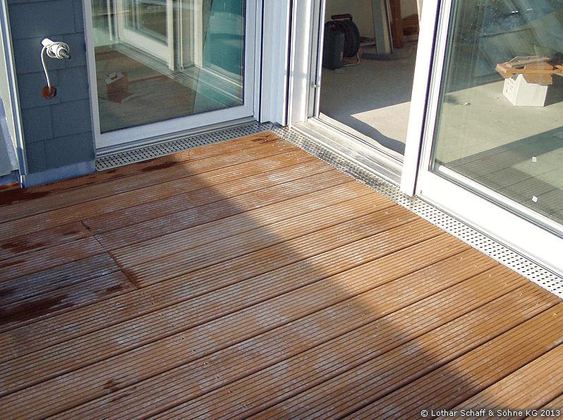 Balkontür zur neuen Terrasse