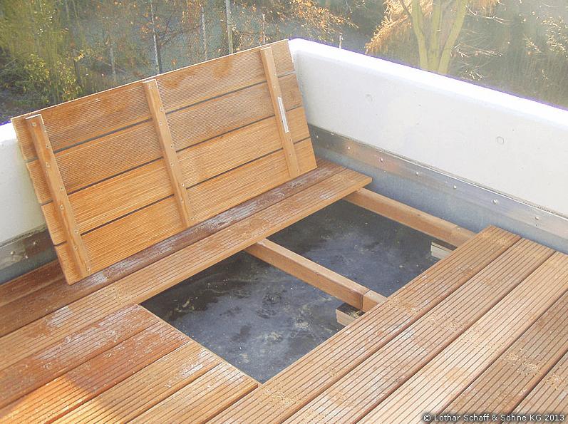 Wasserabweisende Unterkonstruktion der Terrasse
