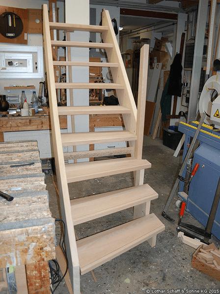 Kellertreppen Neubau mit technischer Besonderheit