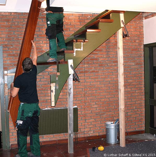 Treppe mit Umbau und Umzug innerhalb eines Hauses