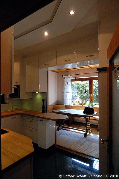 Deckenbeleuchtung in der neuen Küche