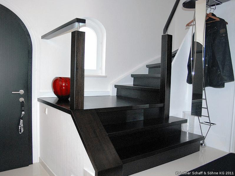 Treppenumbau und Renovierung der vorhanden Substanz in einem Einfamilienhaus