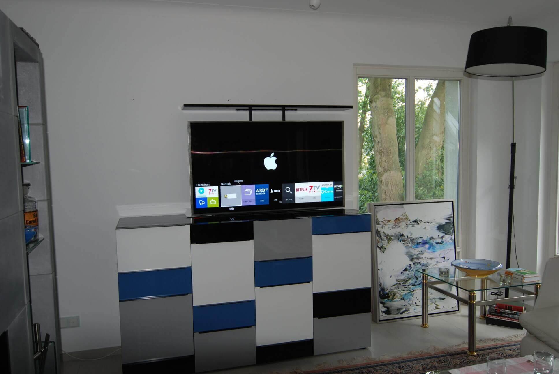 Umarbeitung eines vorhandenen Möbelstücks in eine TV-Kommode