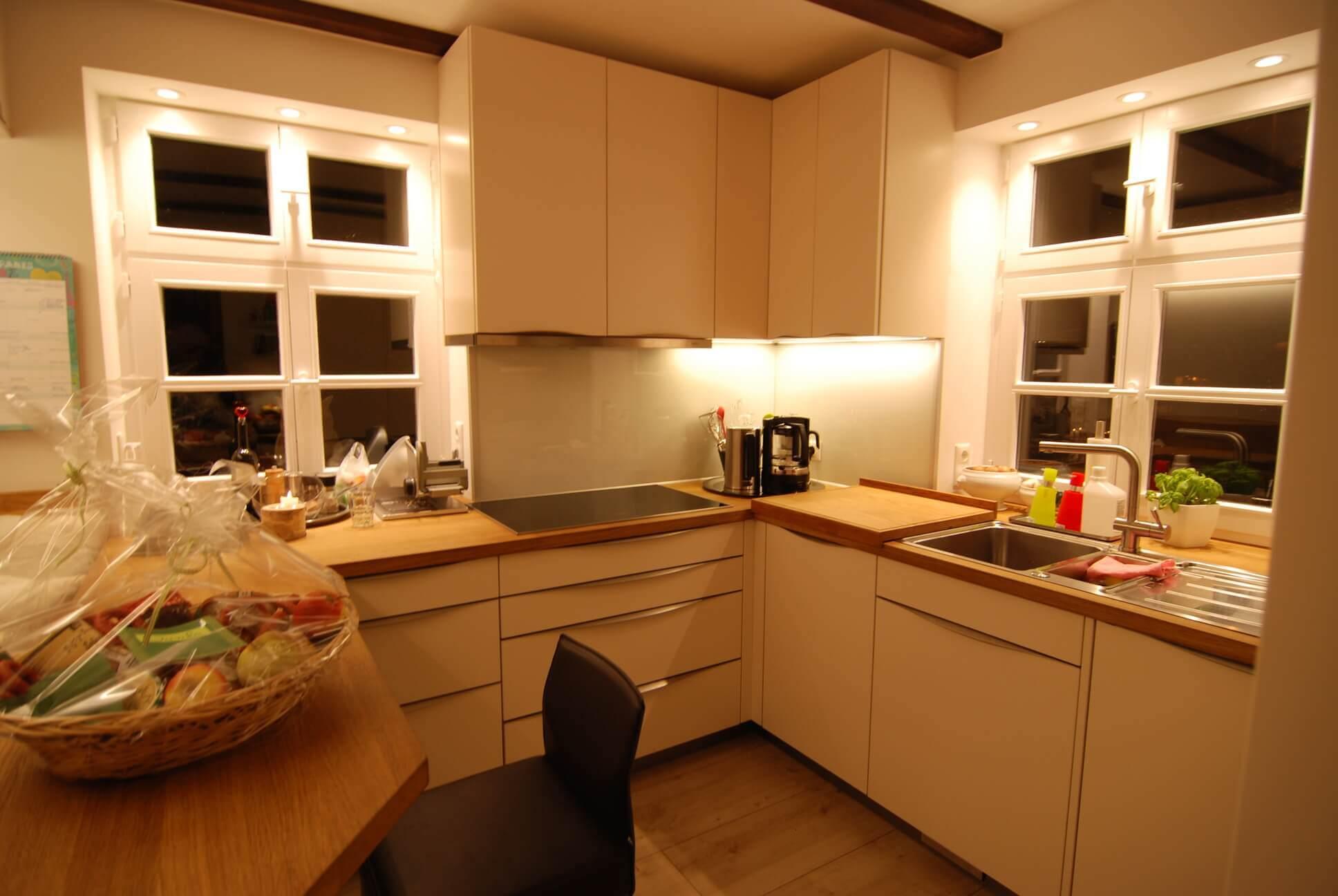 Einbauküche im Fachwerkhaus
