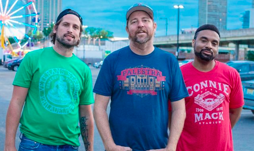 Shibe Vintage Sports, three men in vintage t-shirts