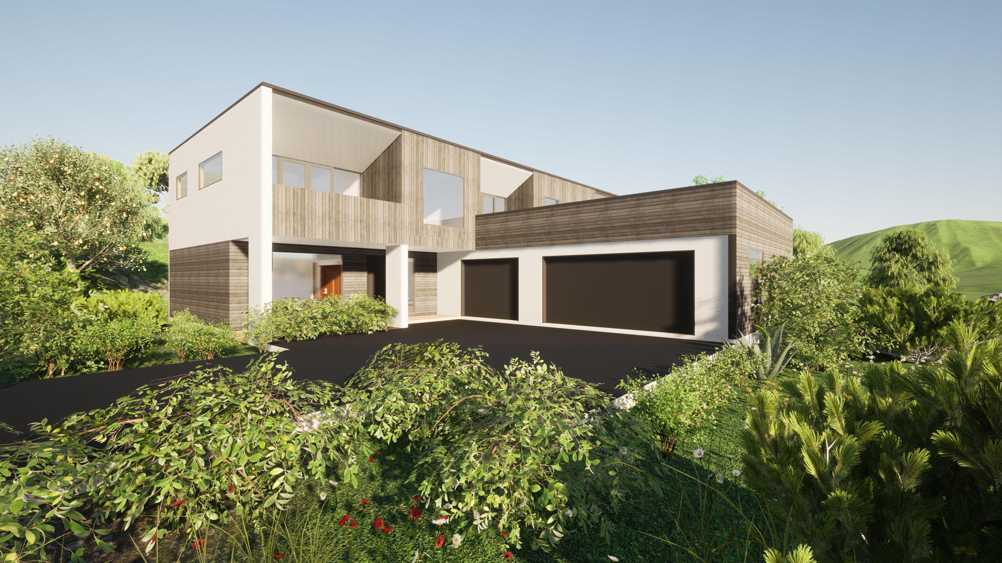 Heathfield, Dunedin view 2 by Architecture Design Studio