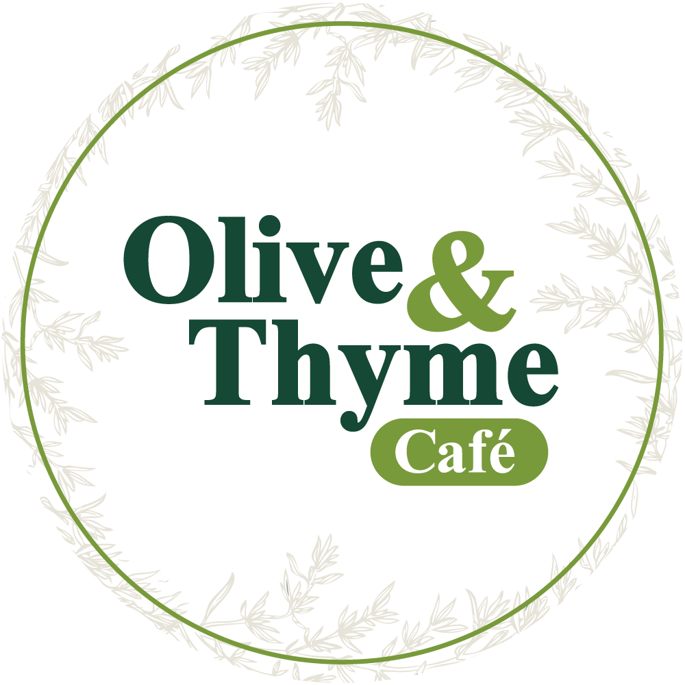 olive and thyme logo round