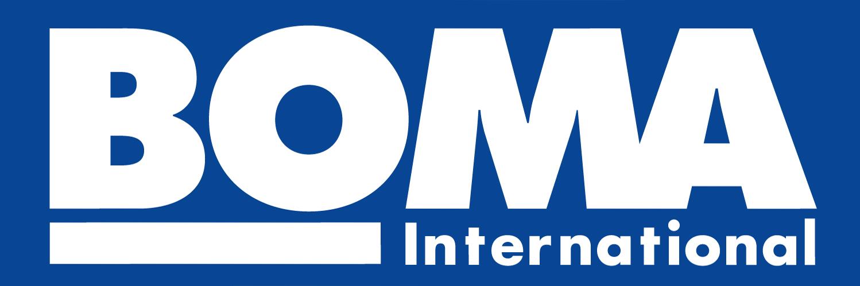 BOMA International blue and white logo
