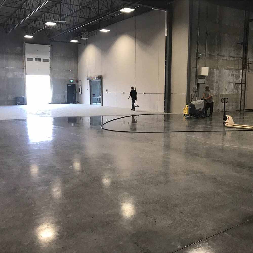 Concrete floor cleaning in Kelowna