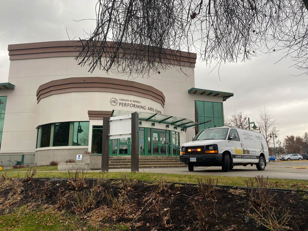Commercial floor cleaning at Vernon Performing Arts Centre