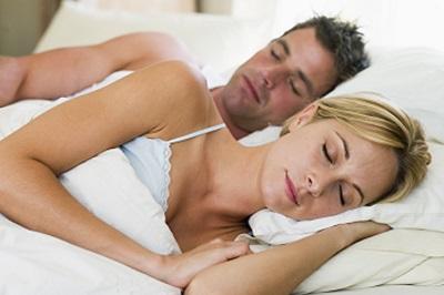 a couple sleeping