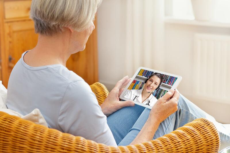 talking to a dentist through an ipad