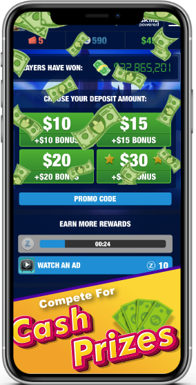 Play mobile casino games for real cash prizes