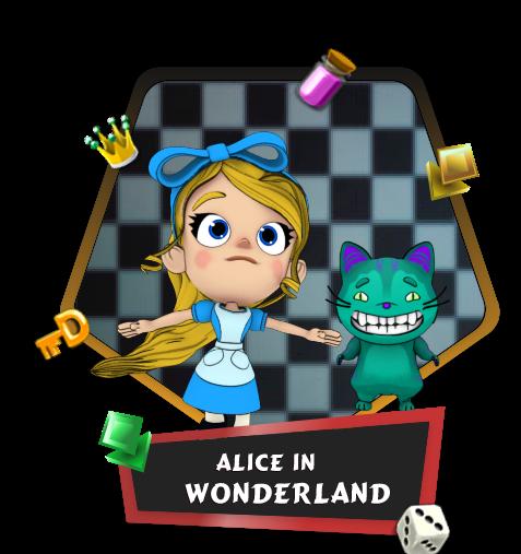 Alice in Wonderland match 3 game
