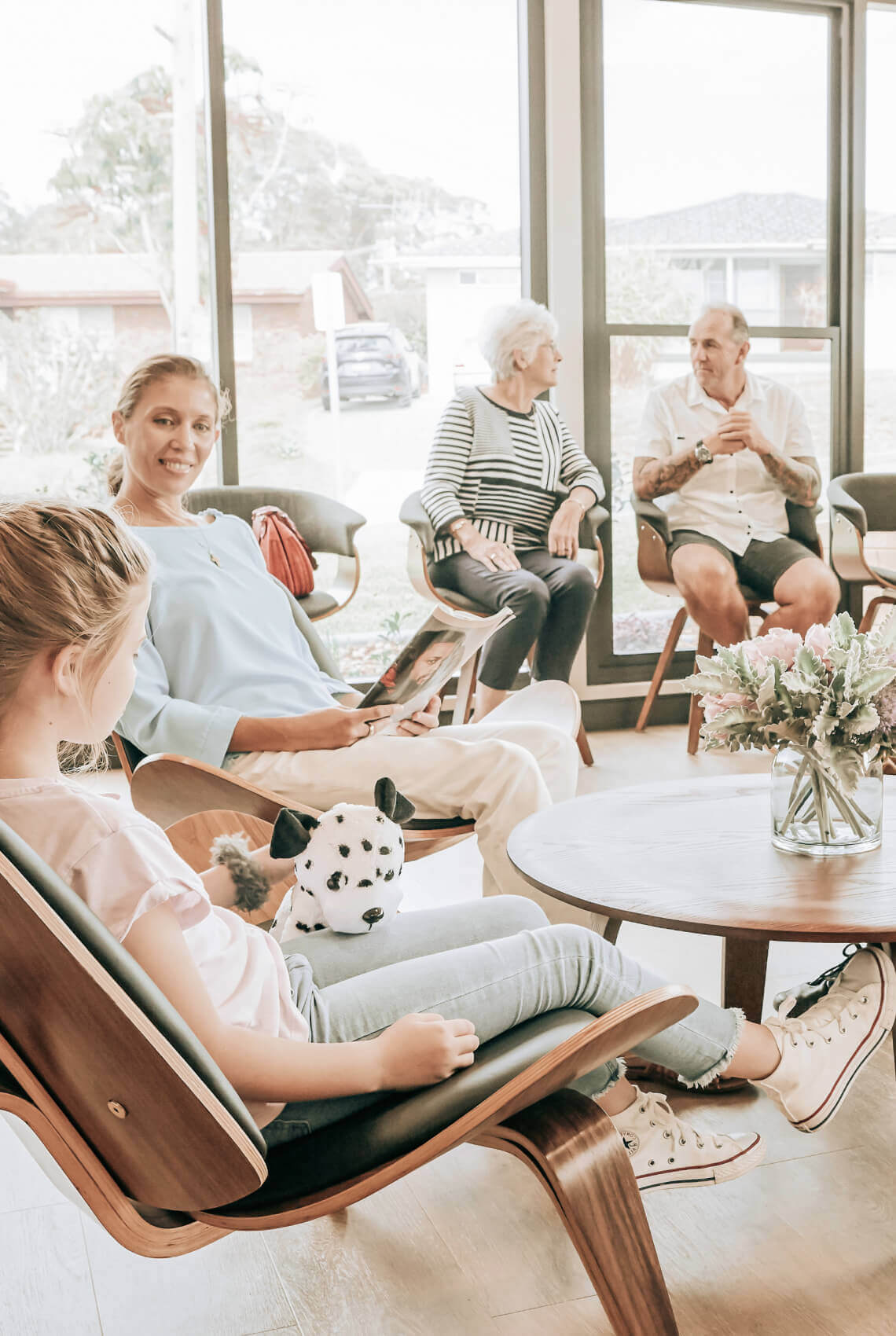 patients in the waiting room of TL Dental port macquarie