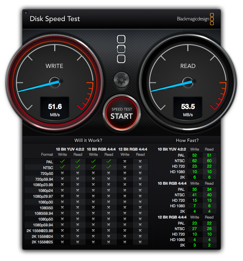 disk speed test 1
