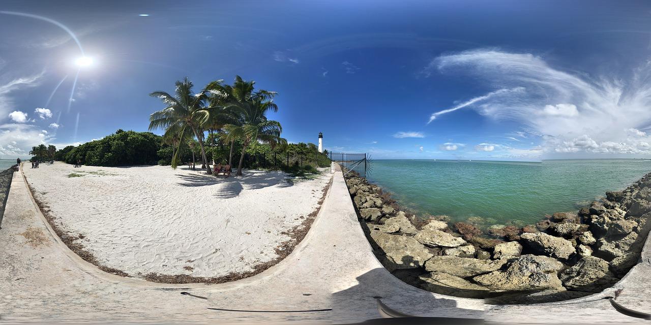 virtual reality travel beach