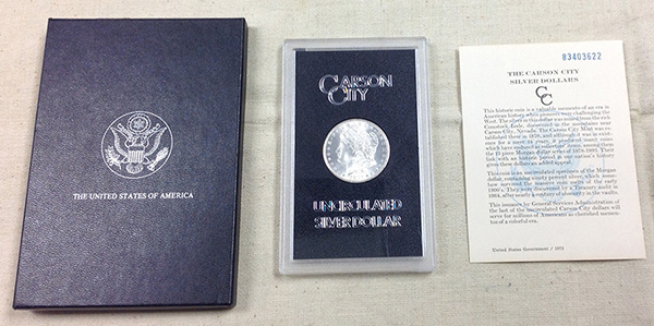 GSA Morgan Dollars with Certificate of Authenticity