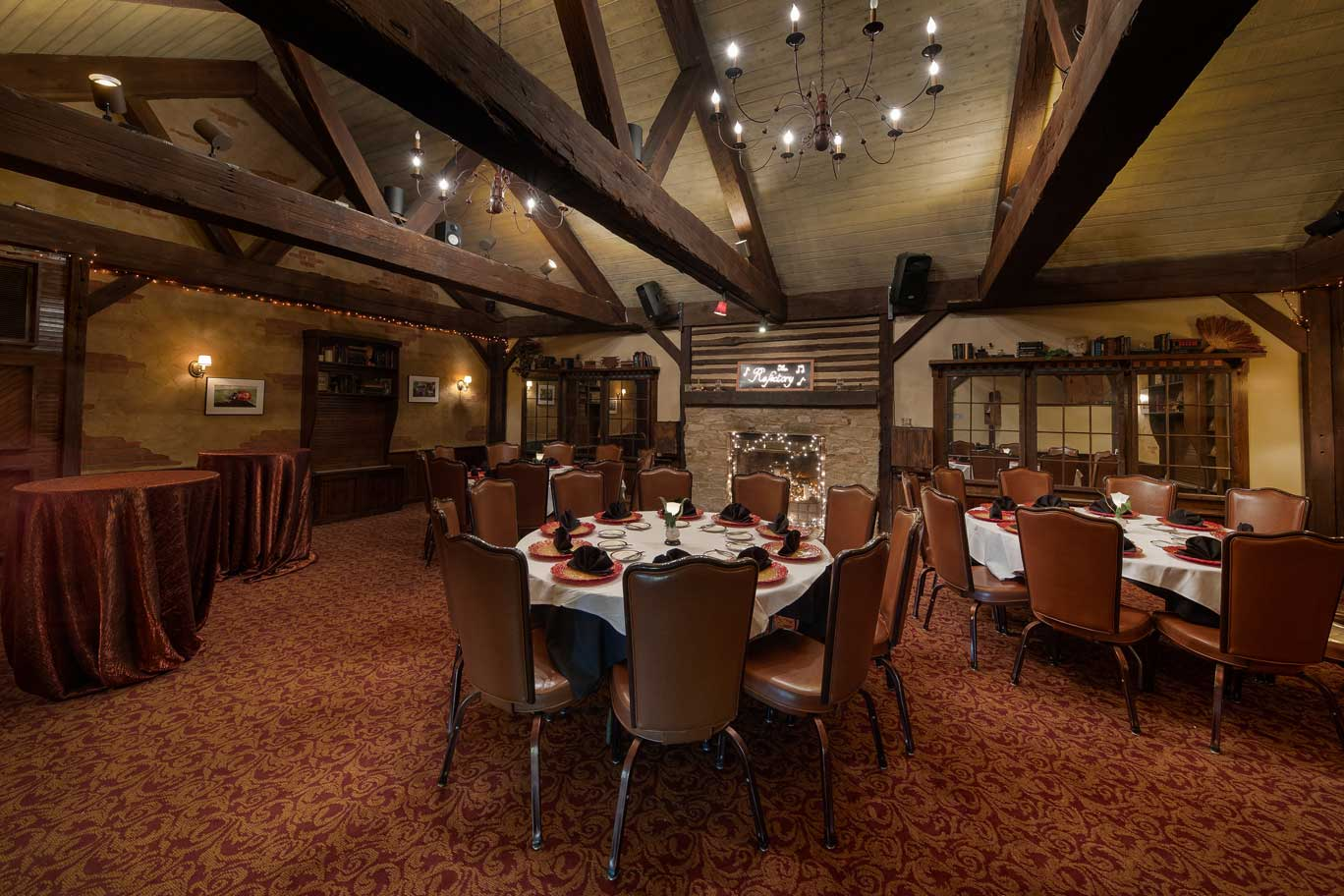 picture of the event room at the refectory restaurant columbus ohio