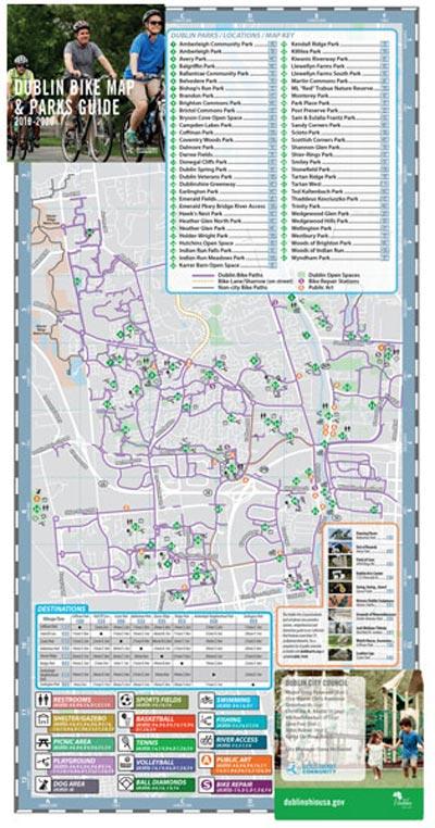 City of Dublin, Ohio Bike Map (Open)
