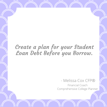Melissa Cox CFP® helps families create a plan for student loan debt.