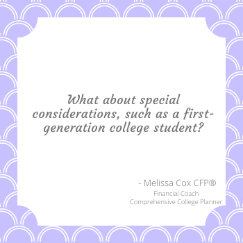 Melissa Cox CFP describes the benefit of being a first generation college student.