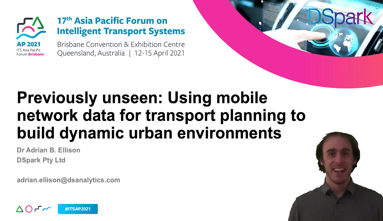 DataSpark presents at Asia Pacific Forum on Intelligent Transport Systems