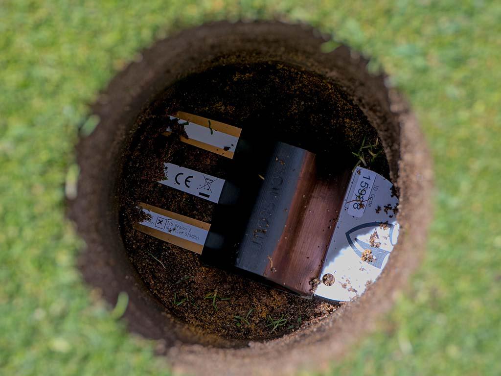 golf soil sensor installation