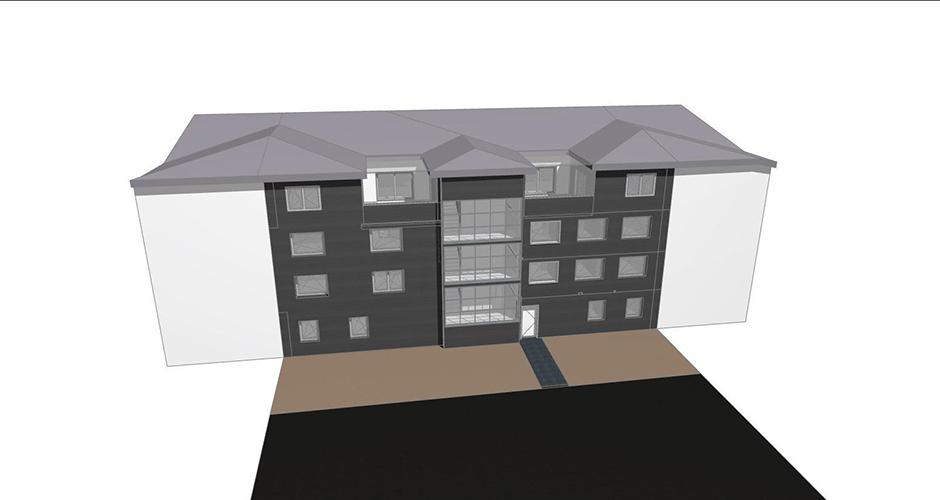 Baulücke Büro und Geschäftsgebäude
