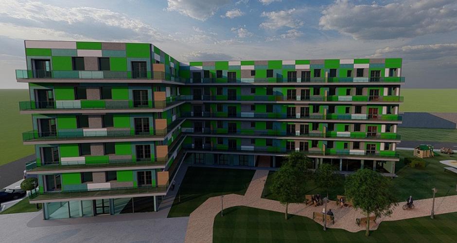 Wohngebäude mit integrierter Einkaufsebene