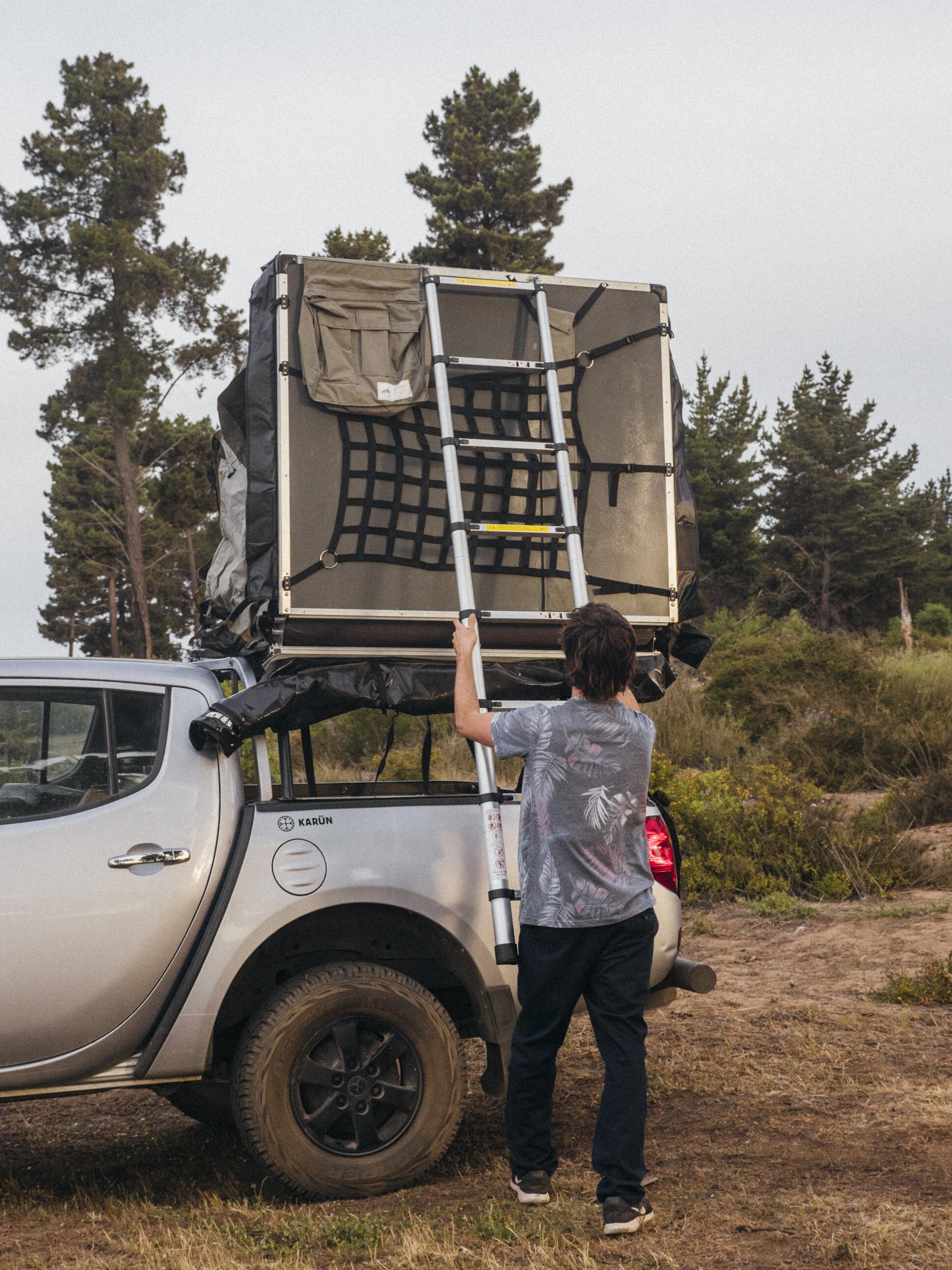 Cierre fácil con escalera telescópica