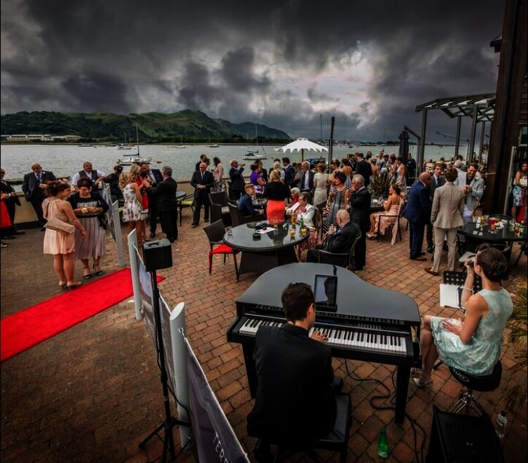 Piano Vocal Duo Performing at Busy Event North Wales