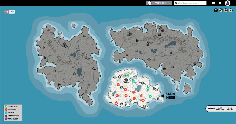 Screenshot showing the gamified view