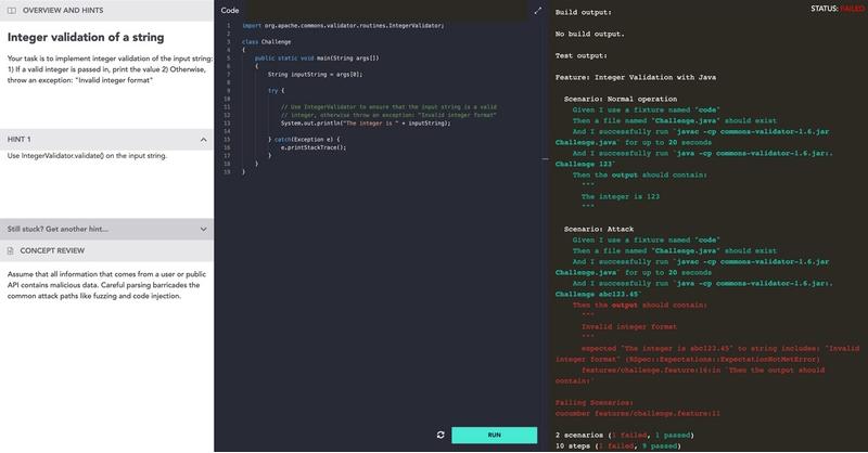 Screenshot of product