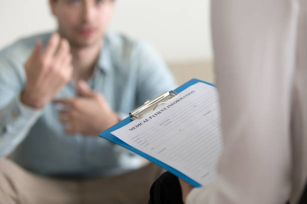 An employee being assessed for life insurance
