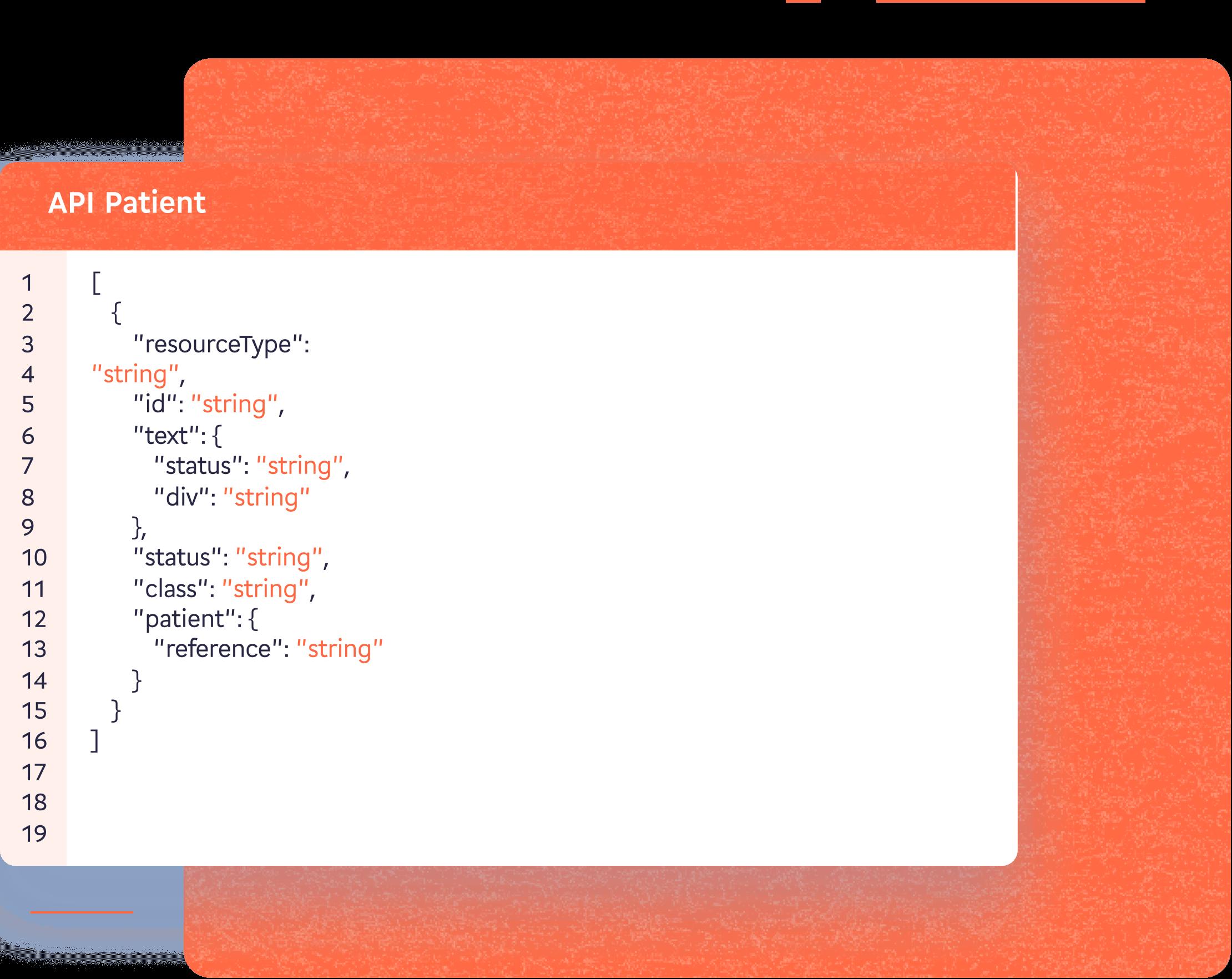 Representation de l'API patient de Lifen