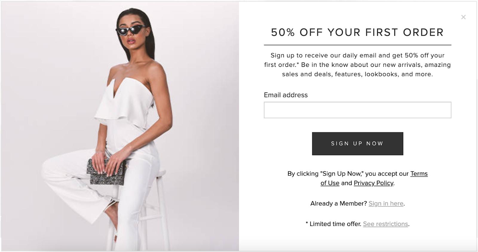 Tobi 50% off new customer offer