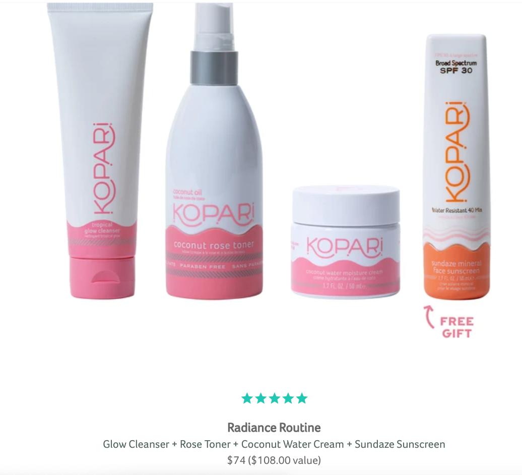 Kopari Radiance Routine bundle
