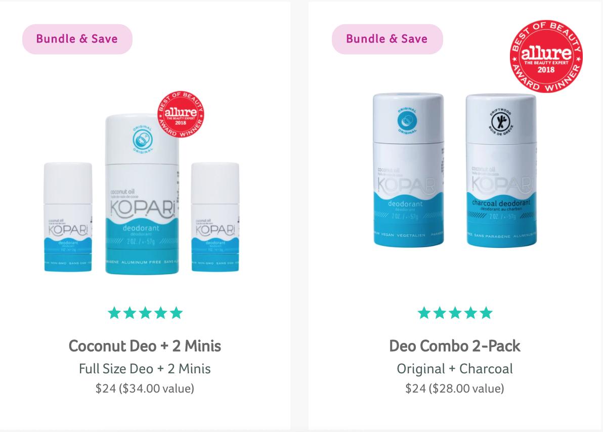 Kopari deodorant bundles