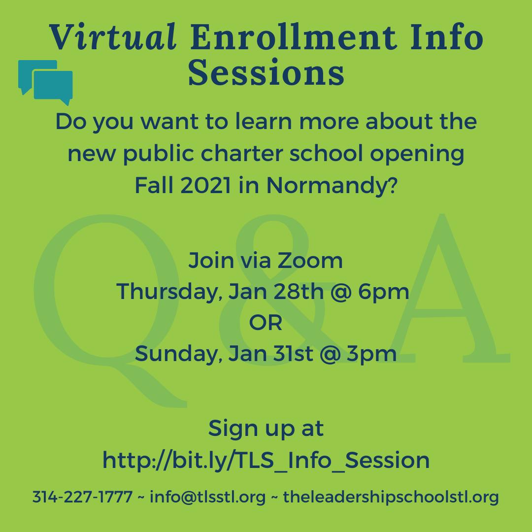 Enrollment Info Sessions