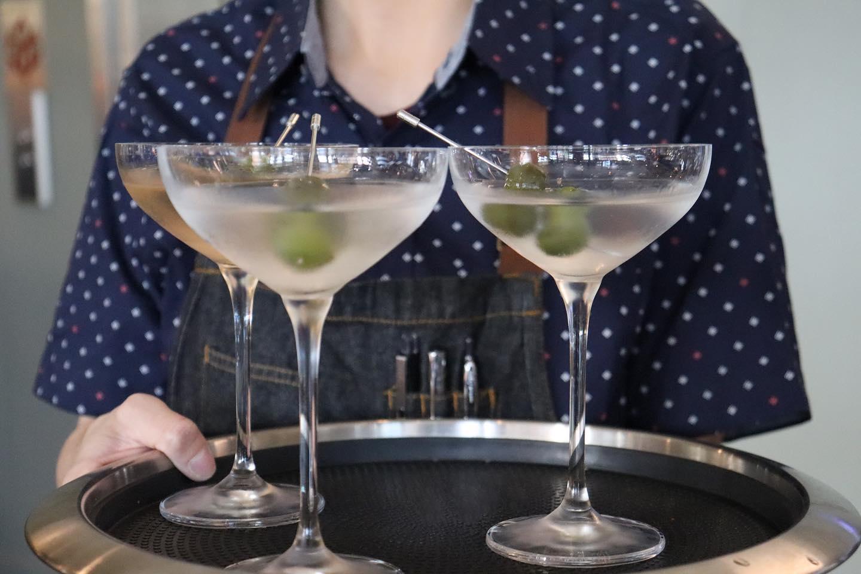 Tray of Delicious Martini's