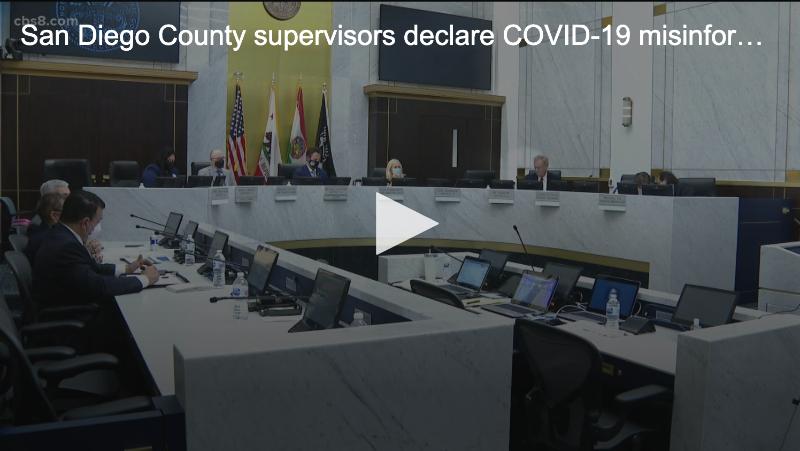 San Diego County Supervisors declare COVID misinformation a public health crisis