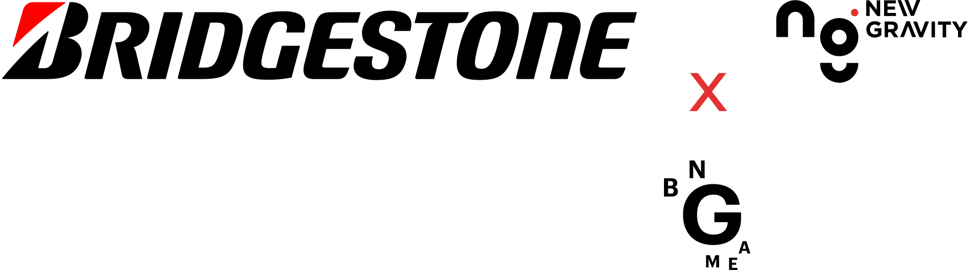 Bridgestone, New Gravity and BNG MEA logos