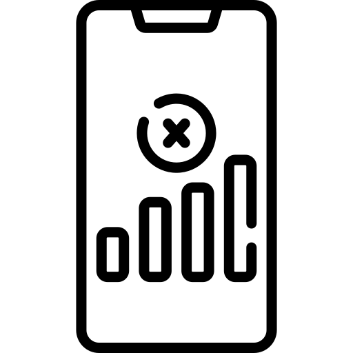 smartphone without connection icon
