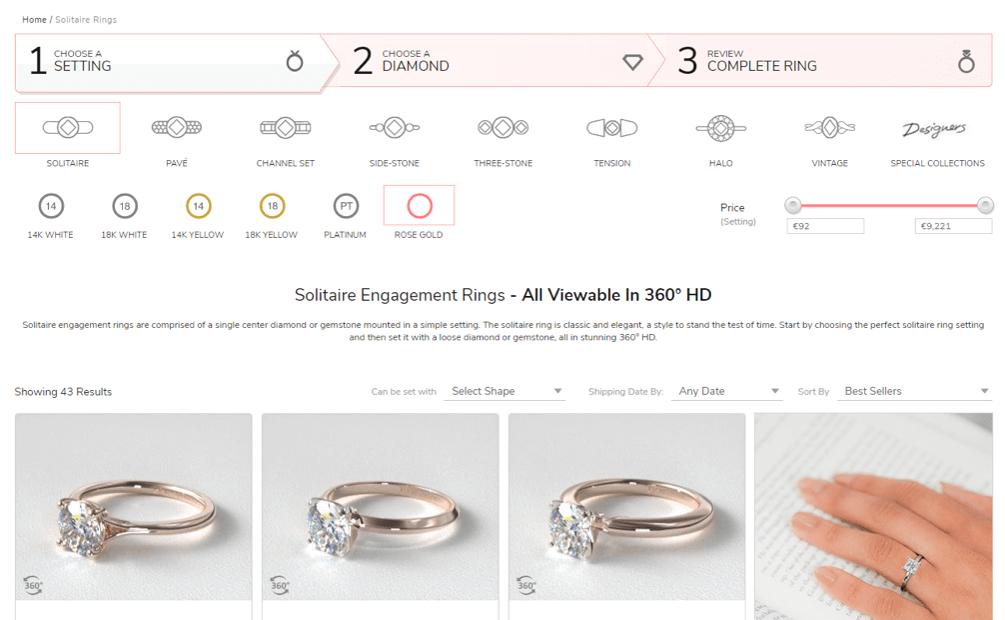 James Allen – jewellery design