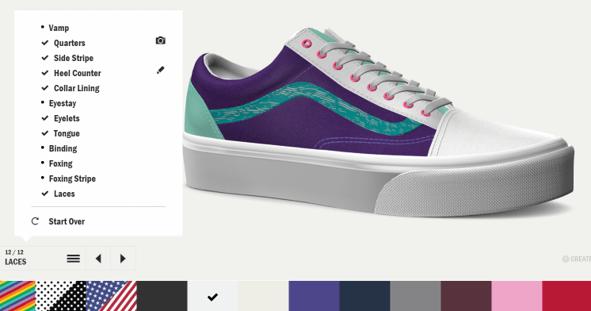 Vans –shoes and backpacks design