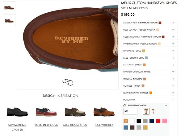 Timberland – shoes personalisation