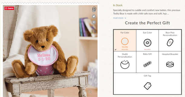 Vermont Teddy Bear – teddy bears with personalised elements