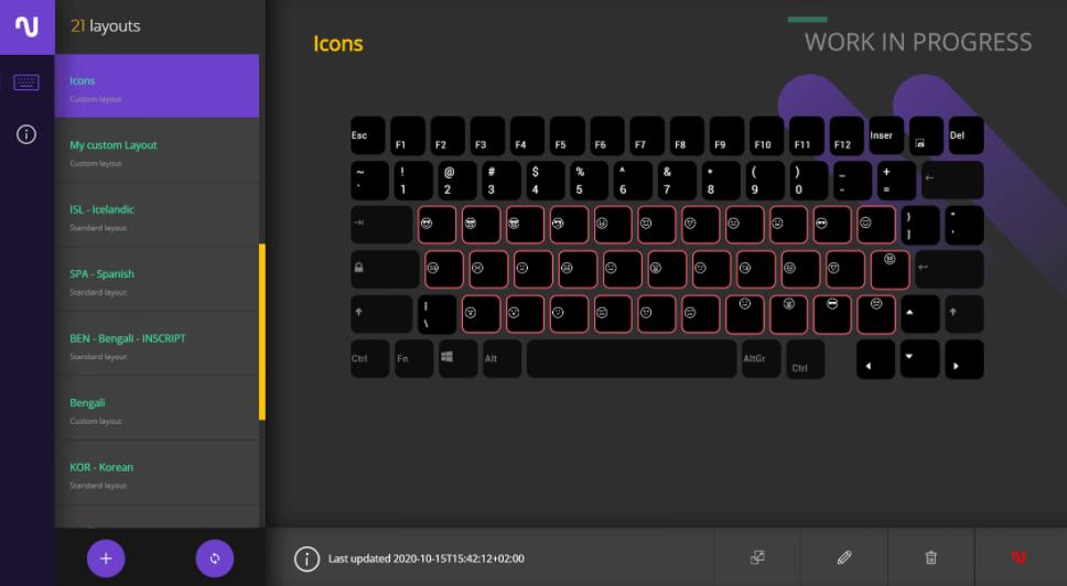 Nemeio – fully customisable keyboard